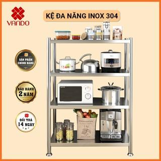 [ RỘNG 100cm ] Giá Kệ Để Đồ Đa Năng INOX 304 VANDO, Kệ Để Lò Vi Sóng, Kệ Lò Nướng, Kệ Để Đồ Nhà Bếp