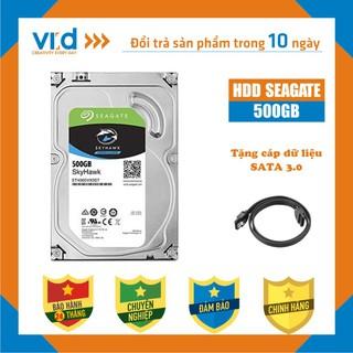 Ổ cứng HDD 500GB Skyhawk - Tặng cáp SATA3.0 - Hàng tháo máy đồng bộ nhập khẩu mới 98% - Bảo hành 24T