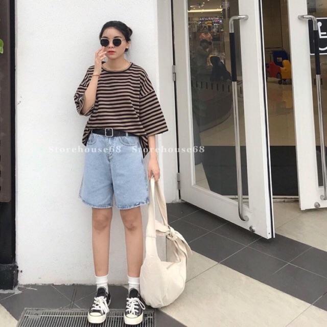 Quần short ngố jean Style ulzzang siêu đẹp ạ ( hình thật kèm video)