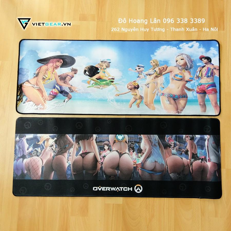 Pad chuột các loại 800x300x2, LOL, Minion, B&S, Overwatch