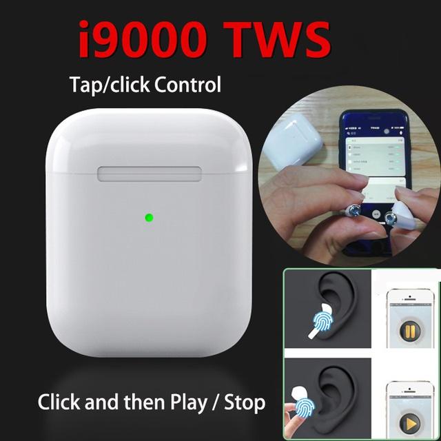 Tai nghe bluetooth không dây i9000 TWS Pop Up Điều khiển cảm ứng, đổi tên, định vị, cài đặt chạm cảm ứng