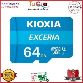 [Mã ELFLASH5 giảm 20K đơn 50K] Thẻ nhớ microSD Kioxia 64GB Class 10 - Hàng chính hãng