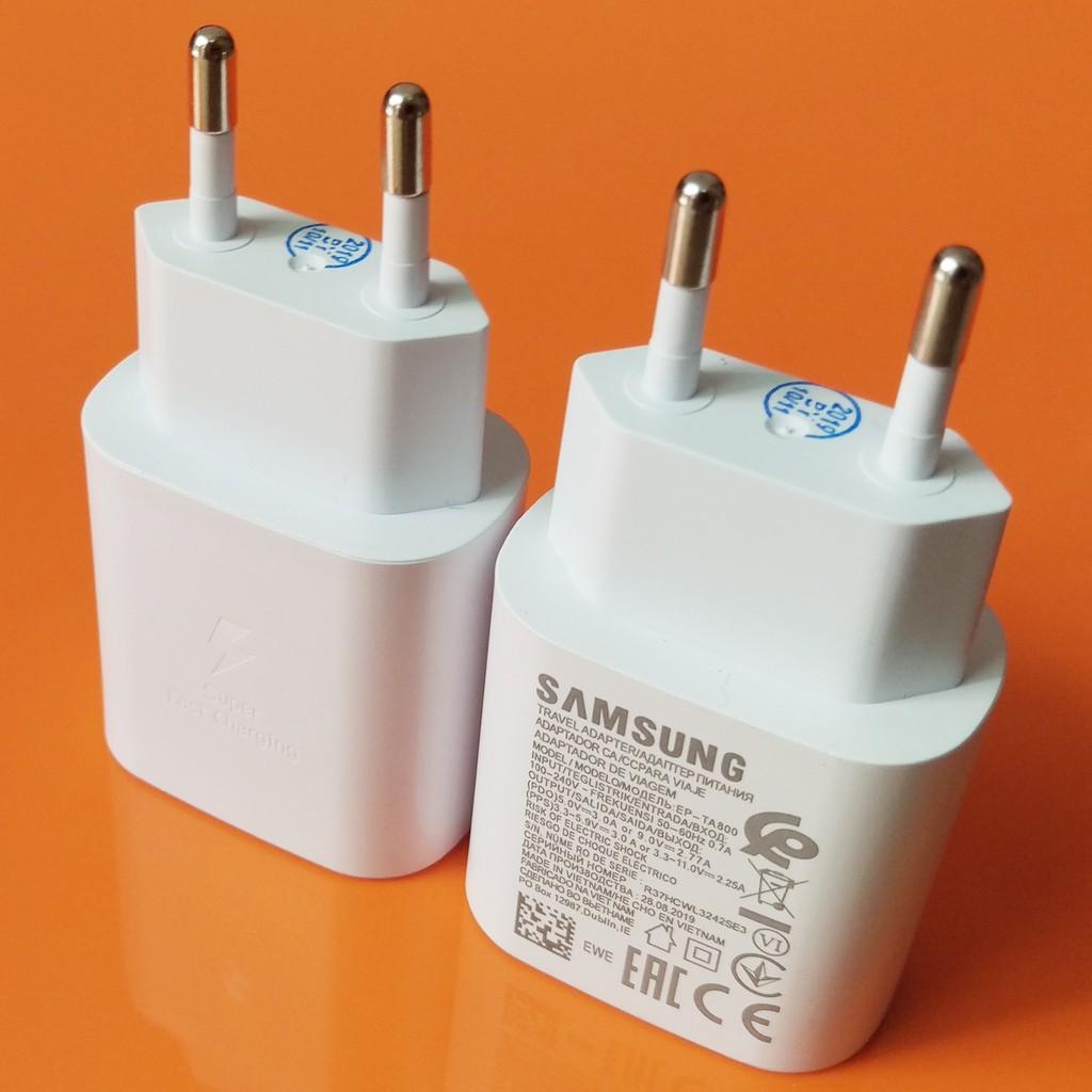 Bộ Sạc Siêu Nhanh Samsung Galaxy A70 25W Type-C 2 Đầu 2020 NEW