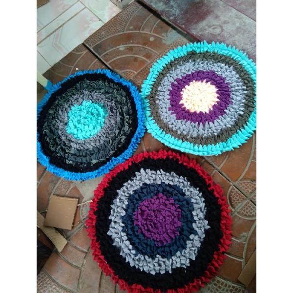thảm lau chân tròn hình hoa loại to (đk 43cm)