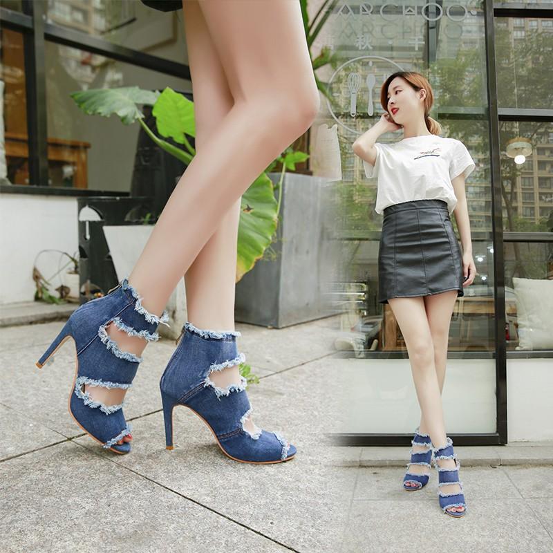 Giày Cao Gót 10cm 35-40 Kiểu Dáng Trẻ Trung Quyến Rũ Dành Cho Nữ