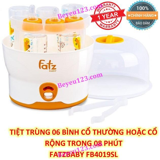 (BH 12th) FB4019SL - Máy tiệt trùng 06 bình sữa cổ rộng siêu tốc FATZBABY