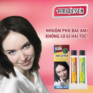 Nhuộm phủ bạc dược thảo Amiseven nhanh 7 phút AMI SEVEN (Loại tiết kiệm) S3 (60g + 60g) Hàn Quốc thumbnail