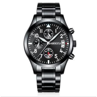 Đồng hồ nam Nibosi full 6 kim 2303 (Black-Black) thumbnail