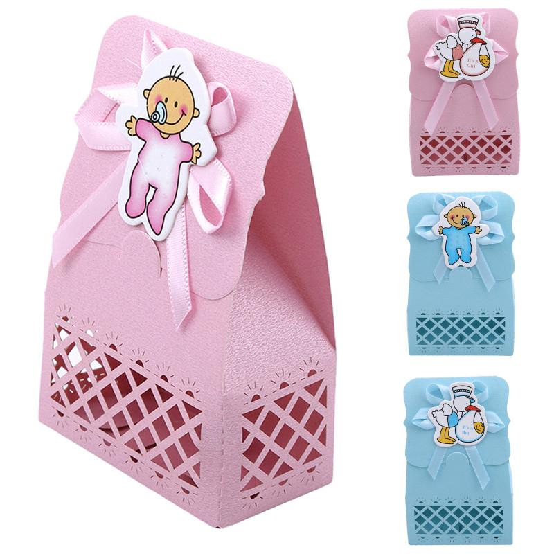 Candy Box Christening Gift Boxes Bags Baptism Birthday Party Decor Paperboard