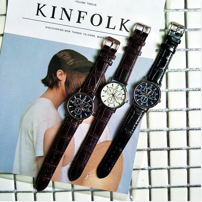 [FREESHIP] Đồng hồ nam GENEVA dây da, sản phẩm thiết kế trẻ trung, với nhiều màu sắc thời trang khác nhau. 8686