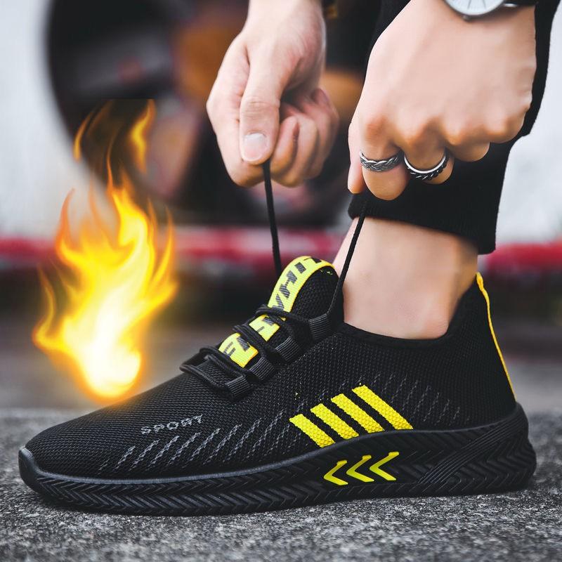 Giày Thể Thao Nam KATEZA22 Giày Sneaker Nam Vải Lướí Thoáng Khí Phối Sọc Nhẹ Êm Chân KATEZA Size (39-43)