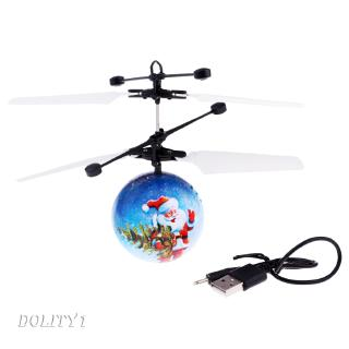 Santa Claus Pattern RC Flying Ball Toy Mini Infrared Ball Drone Helicopters