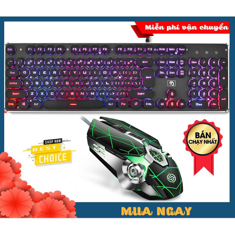 [HÀNG CAO CẤP] Bộ Bàn Phím Led RGB 10 Chế Độ K100 Và Chuột Gaming Q7 Cực Đẹp Phím Êm Chuột Nhạy - Hàng Nhập Khẩu