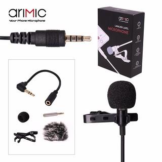 [Mã ELORDER5 giảm 10K đơn 20K] Micro AriMic Clip-on Lavalier 1.5m – Mic thu âm gài áo cho điện thoại, máy ảnh, PC