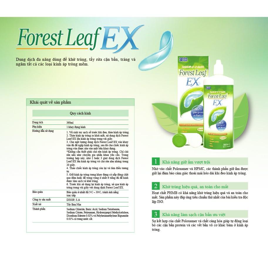 Dung dịch ngâm rửa lens kính áp tròng SEED Forest Leaf EX 360ml