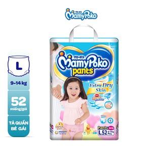 [Giao KV Miền Nam] Tã quần cao cấp Mamypoko Bé Gái L52 XL24 XXL20 thumbnail