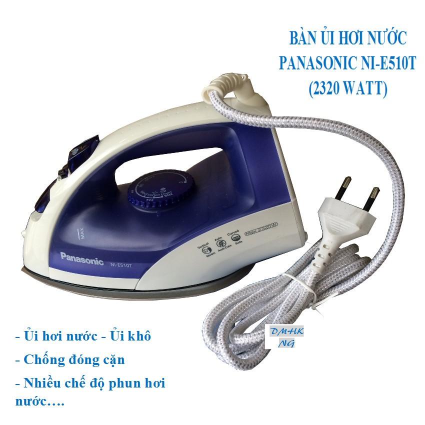 BÀN ỦI HƠI NƯỚC/ KHÔ PANASONIC NI-E510T ( Xanh đậm )
