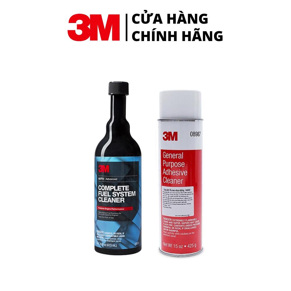 Combo Dung môi phụ gia xăng 3M 08813 473ml + Dung Dịch Tẩy Keo Nhựa Đường 3M General Purpose Adhesive Cleaner 08987 425g