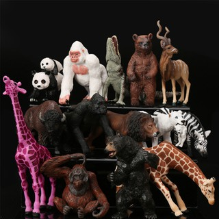 Zoo Mini Wild Animals Action Figures Figurines Kids Toys as Children Gift