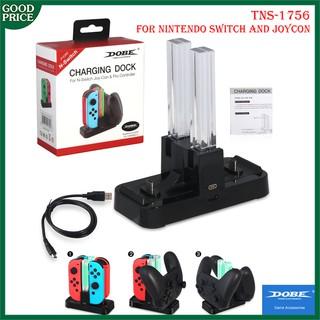 Dobe TNS 1756 – Đế sạc 2in1 cho tay Joycon và Switch Pro của Nintendo Switch