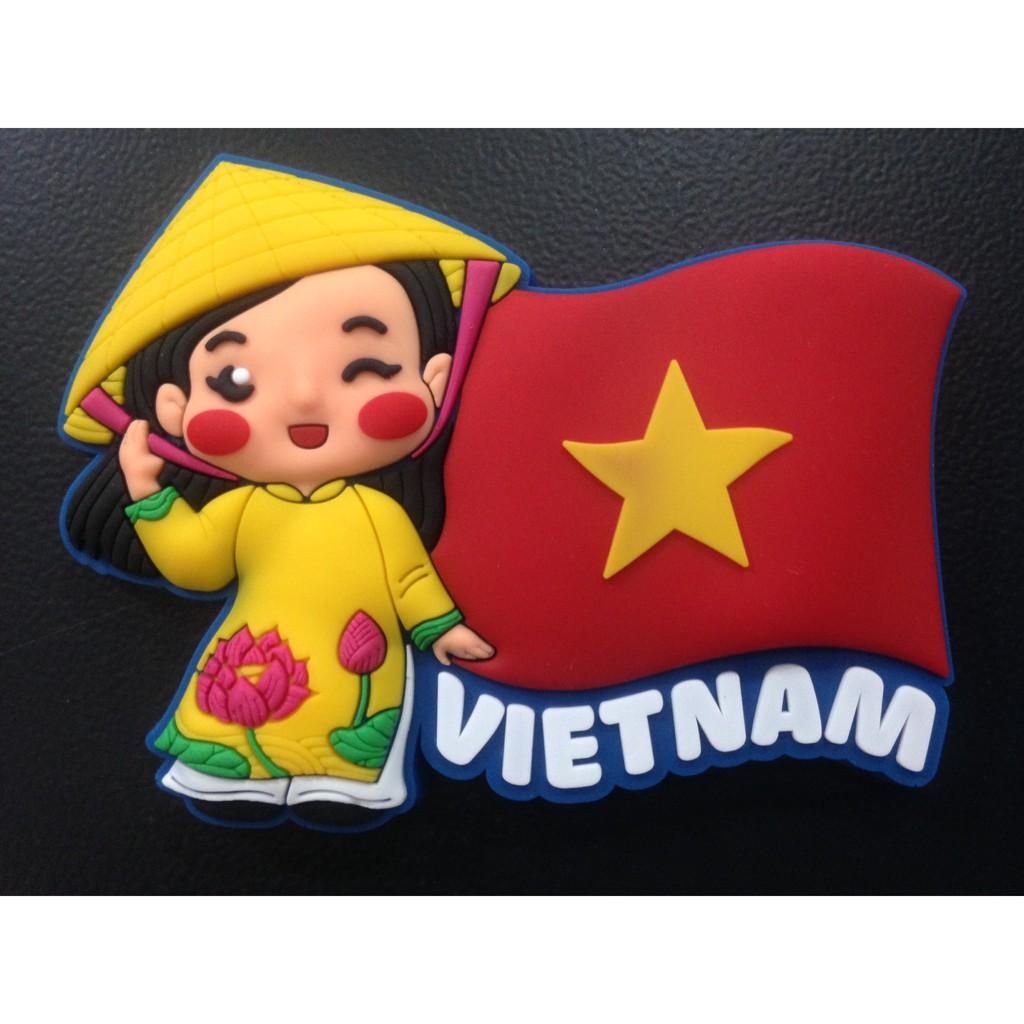 Nam châm dán tủ lạnh lưu niệm Việt Nam.