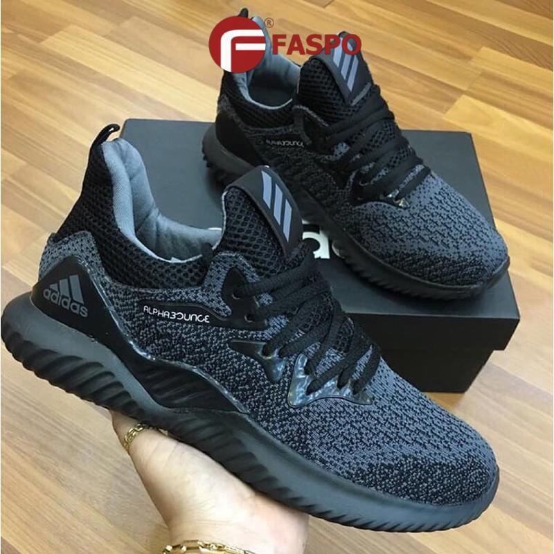 [Mã FASHIONGO15 giảm tới 60K đơn 300K] (sale sốc) Giày nam, giày thể thao nam full đen khỏe khoắn, năng động