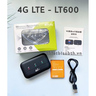 [Mã 229ELSALE hoàn 7% đơn 300K] Bộ phát wifi 4G LT600 Truy cập 10 thiết bị, Pin khủng 3000mAh dùng tới 10H Liên tục thumbnail