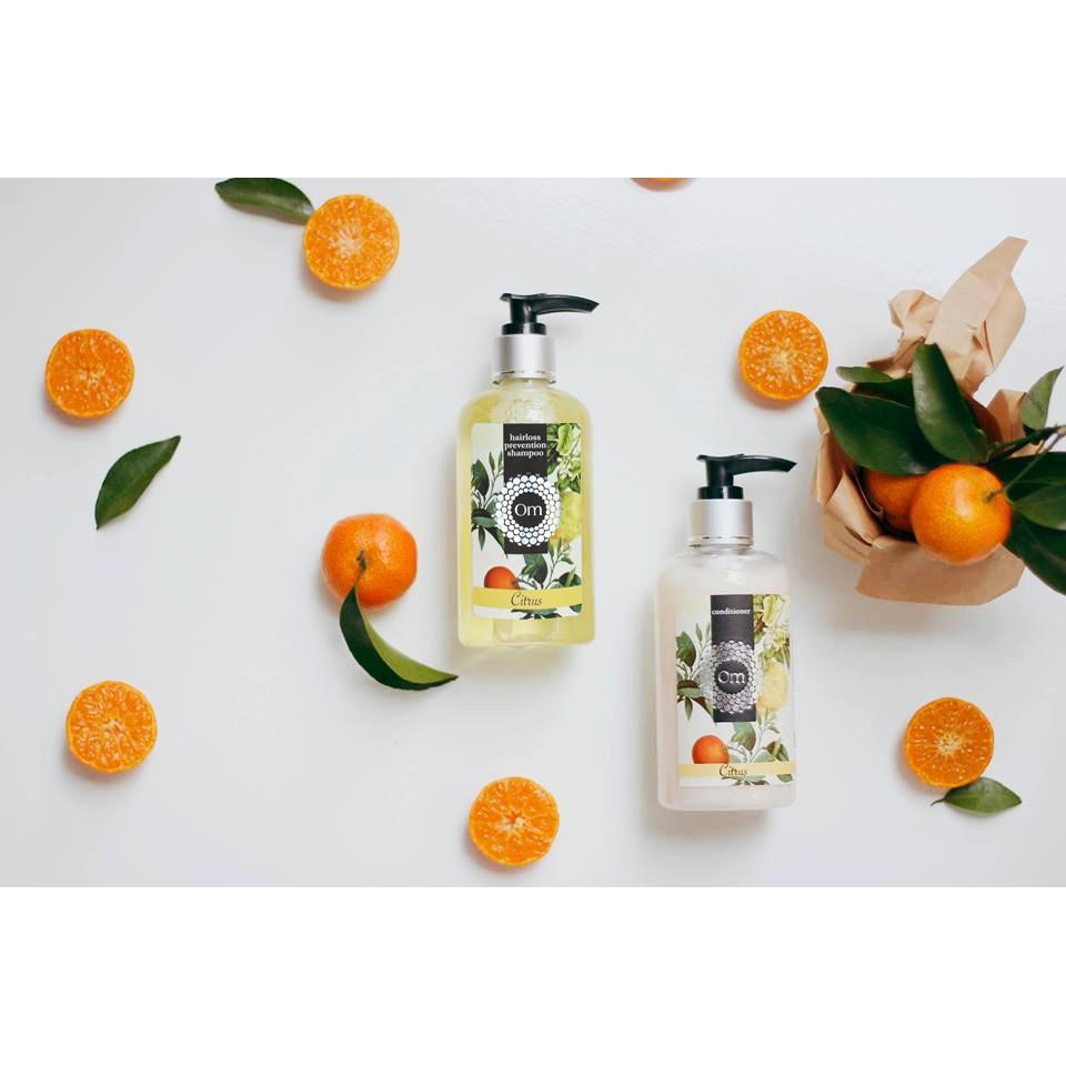Combo trị rụng - Dầu gội - Kem xả tinh dầu Citrus (Cam Quýt Bưởi)