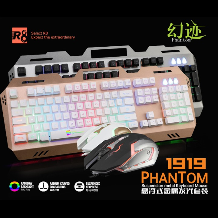 Bộ bàn phím giả cơ và chuột chuyên game R8 1919 Led 7 màu - 2575677 , 211734137 , 322_211734137 , 311000 , Bo-ban-phim-gia-co-va-chuot-chuyen-game-R8-1919-Led-7-mau-322_211734137 , shopee.vn , Bộ bàn phím giả cơ và chuột chuyên game R8 1919 Led 7 màu