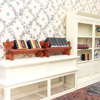 ★ƯU ĐÃI ★Wooden Newspaper Magazine Rack with book Dollhouse Miniature 1:12 Mini