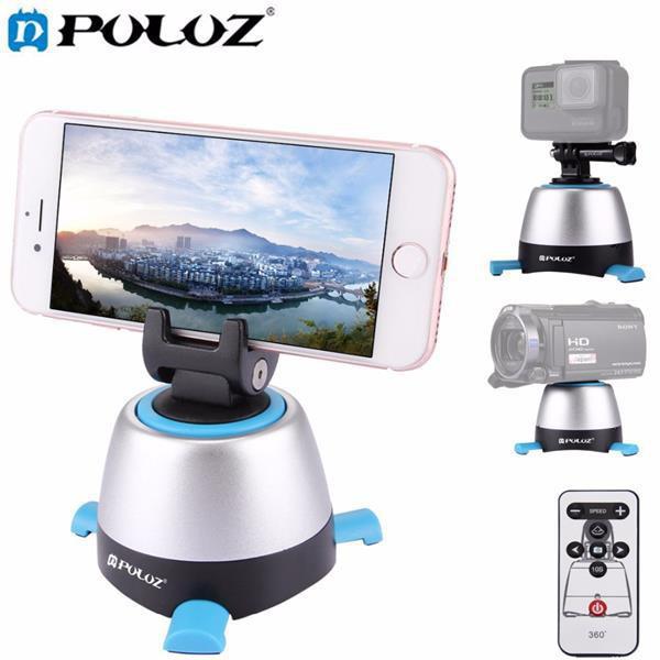 Bộ đế chụp time lapse Puluz góc xoay 360 kết nối bluetooth có điều khiển từ xa, phụ kiện camera hành trình Cực chất.