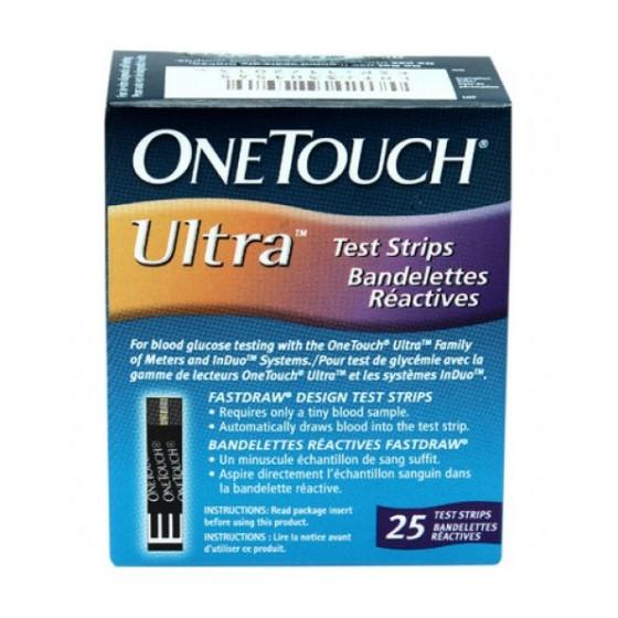 Que thử đường huyết Onetouch Ultra (25que) Date 04/2019