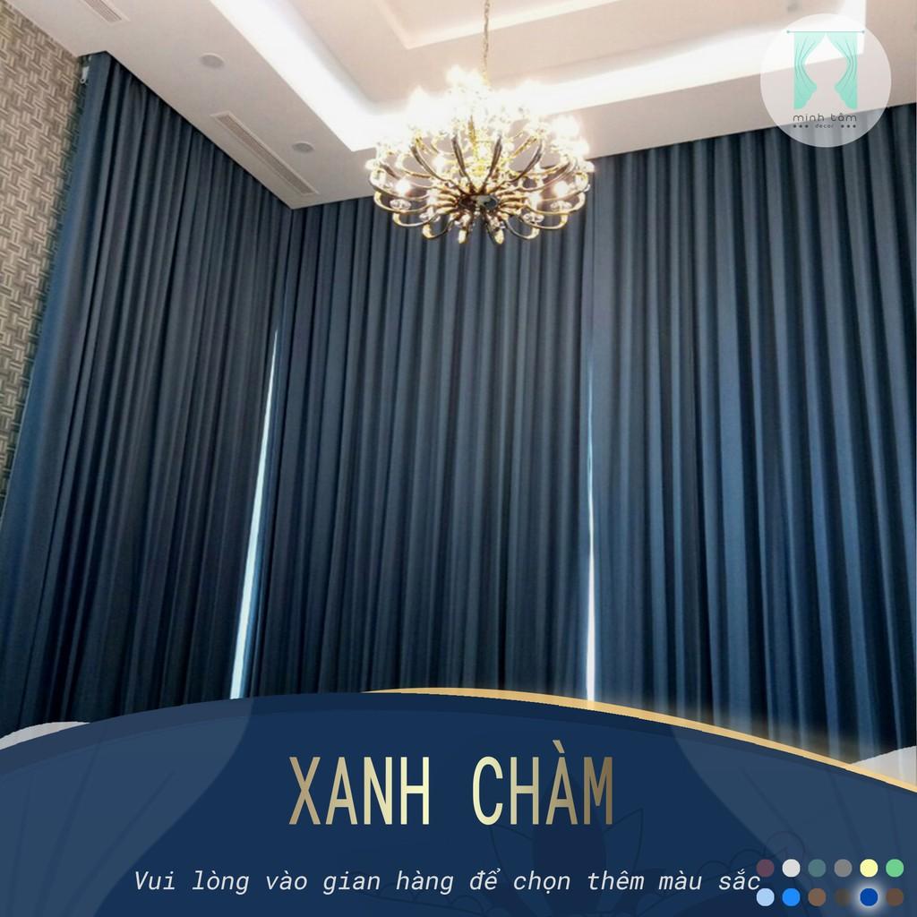 Rèm cửa sổ Minh Tâm cản nắng , cách nhiệt, kiểu dáng ore, rèm dán tường - màu xanh chàm ( Kích thước nhỏ)