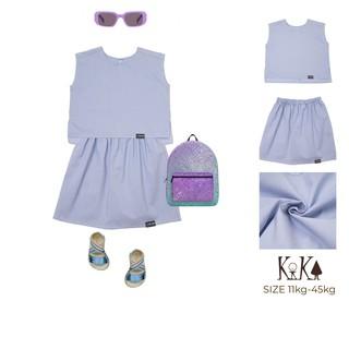 Set bộ áo và chân váy cao cấp dành cho bé Gái thương hiệu KIKA - K088 (có quần bên trong)