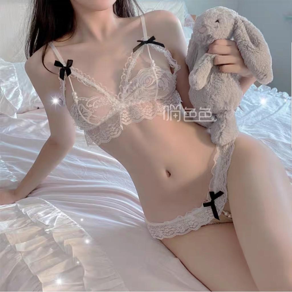 Đồ cosplay sexy chuỗi hạt ren lưới - Bộ đồ ngủ ren đính hạt gợi cảm