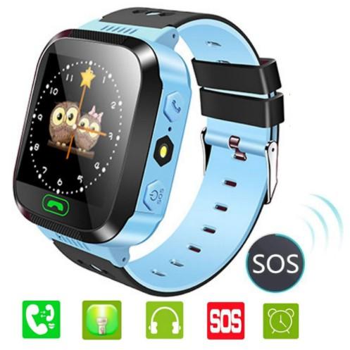 Đồng hồ định vị trẻ em E5 Lắp sim nghe gọi Hỗ trợ tiếng Việt Màu Xanh
