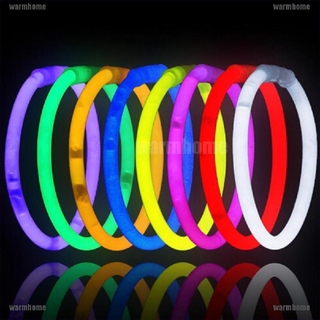 [warmhome]100 Pcs Glow sticks bracelets necklaces fluorescent neon party favors xmas gift