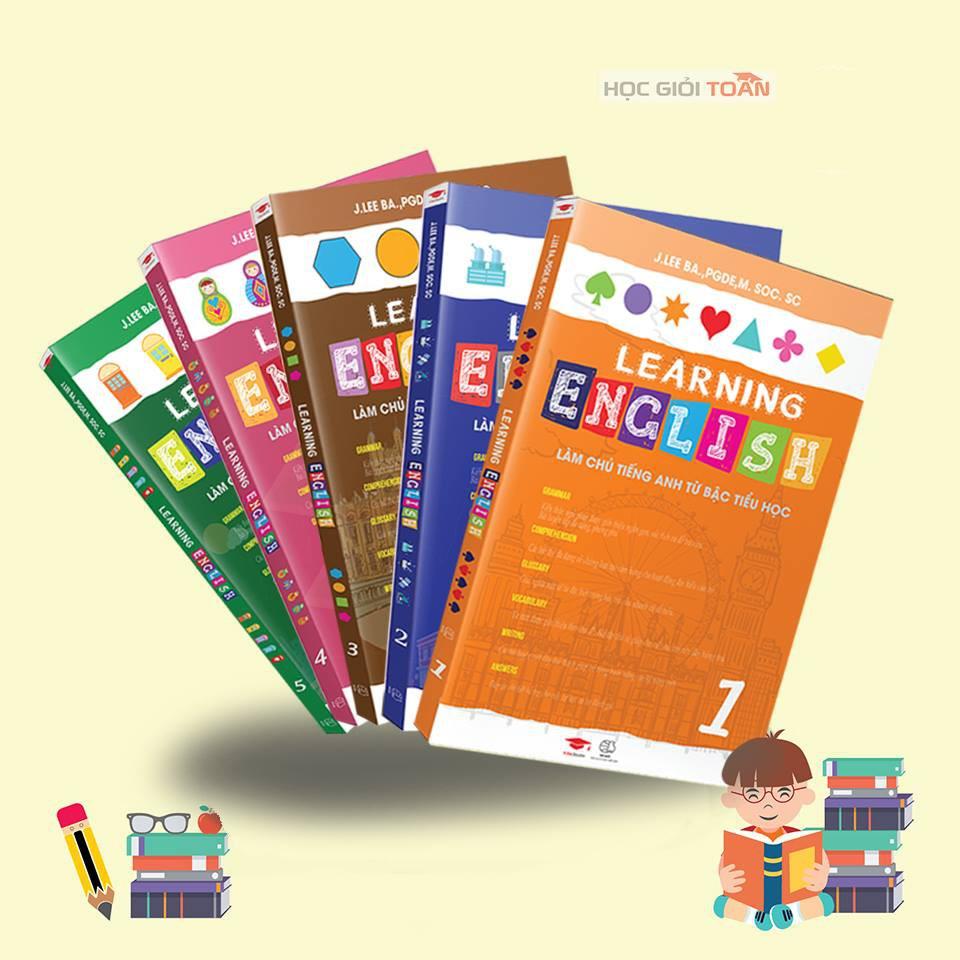 [Mã BMHOT11 giảm 15% đơn 99K] Combo 5 Learning English - Tiếng Anh Singapore Tiểu Học