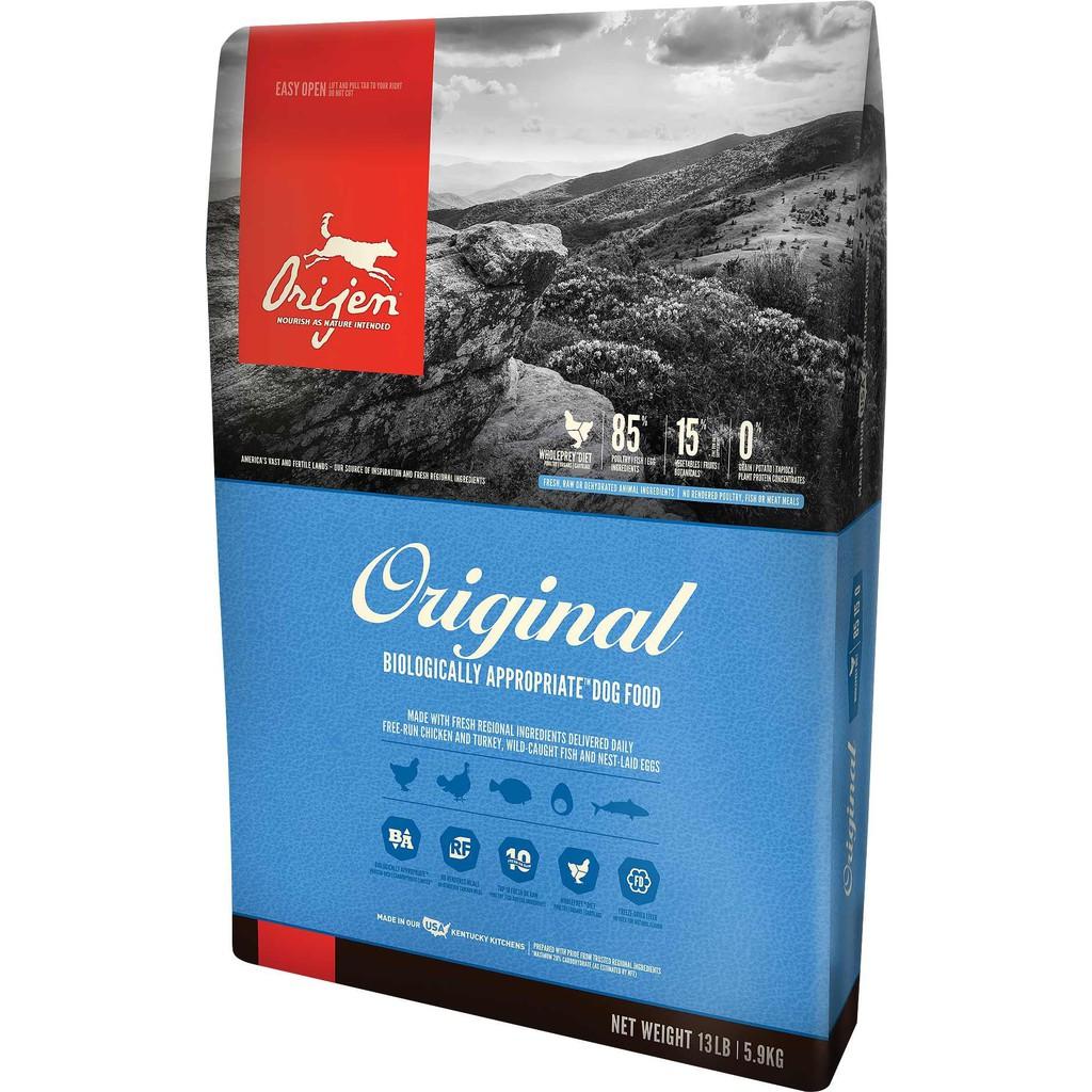6 kg - Orijen Original Dog สูตรใหม่! โอริเจน อาหารเม็ดสุนัขระดับรางวัลชนะเลิศ สูตรสุนัขโต โฮลิสติก
