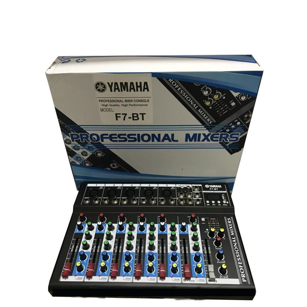 mixer karaoke Yamaha F7 có Bluetooth và USB