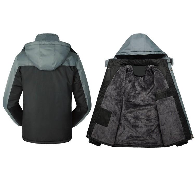 áo khoác nam trung niên ( đen rêu và đen xám lót nhung)
