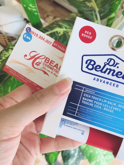 (AUTH_Korea)Son dưỡng môi có màu Dr.Belmeur Cica Touch Lip Balm The Face Shop
