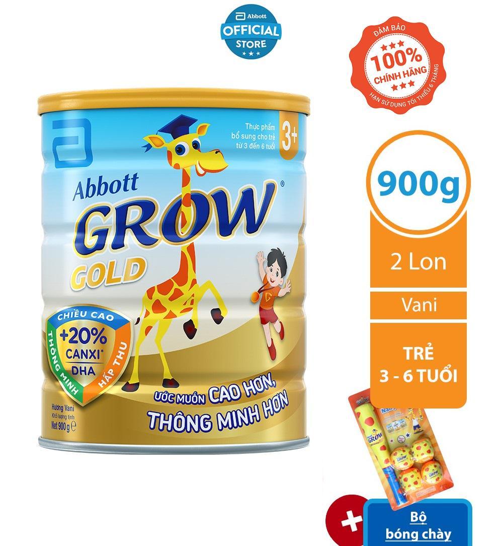 BỘ 02 LON SỮA BỘT ABBOTT GROW 3+ 900G/LON