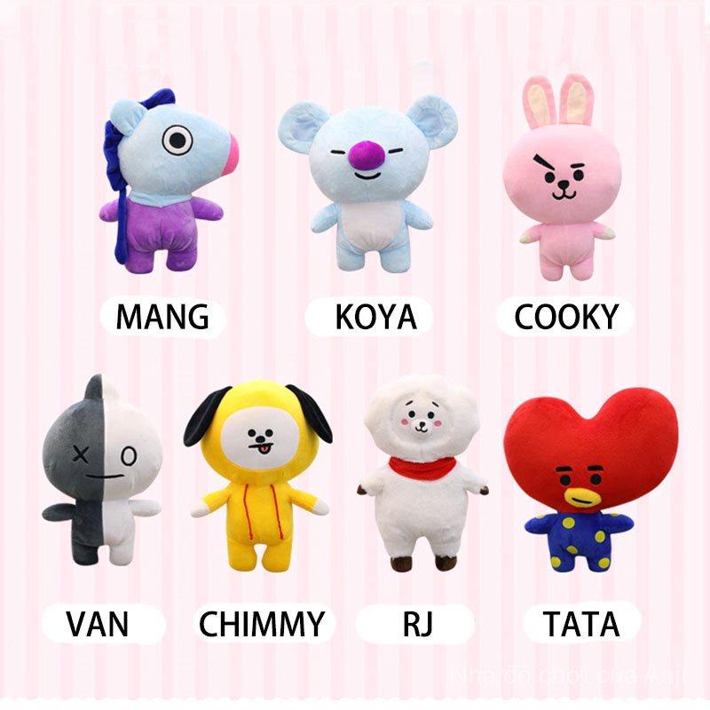 35CM BTS Bangtan Boys Bt21 Doll Pillow Cushion Plush Toy Doll Home Decor