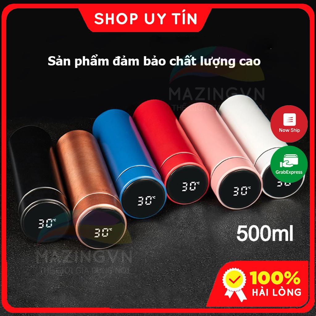 Bình Giữ Nhiệt Mazingvn 500ml Inox Cao Cấp Có Đèn Led Báo Nhiệt Độ Mini Bình Nước Giữ Nhiệt BGNX019