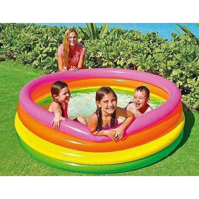 Bể bơi cầu vồng 4 tầng 1m68 INTEX 56441