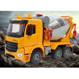 Xe trộn bê tông đồ chơi trẻ em – Xe mô hình công trình