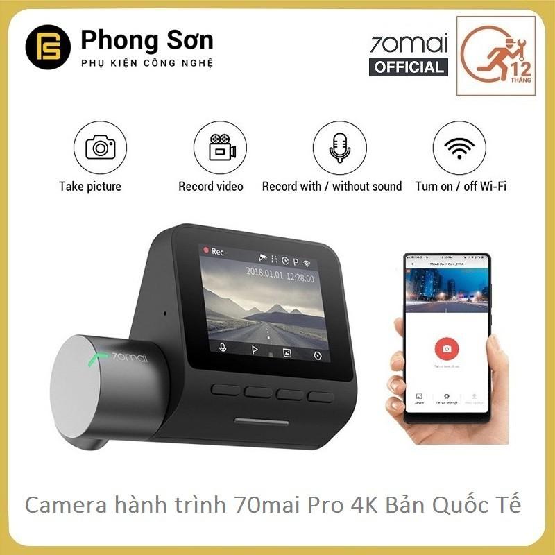 Camera Hành Trình Xiaomi 70mai Dash Camera Pro - BẢN QUỐC TẾ (100% tiếng