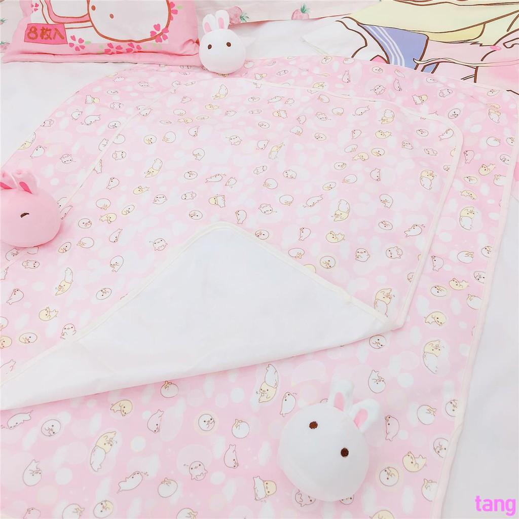 Teenage Heart Pink Dolphin Waterproof Menstrual Bed Protective Mat Menstrual Car