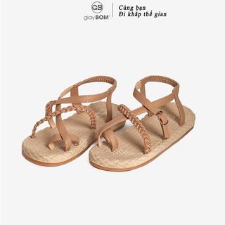 Giày sandal nữ giayBOM xỏ ngón quai dây khóa cổ chân GB00120 thumbnail